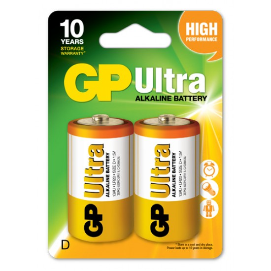 GP Ultra alkaline D - LR20 10 Years Design Life