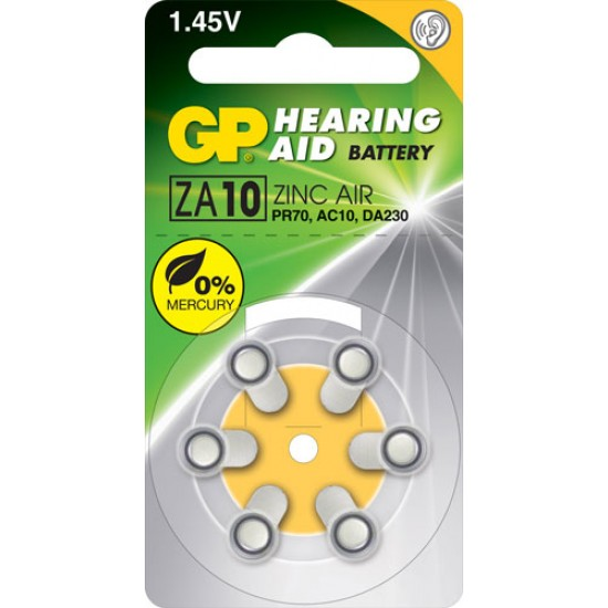 GP ZA10 zinc air Hearing Aid