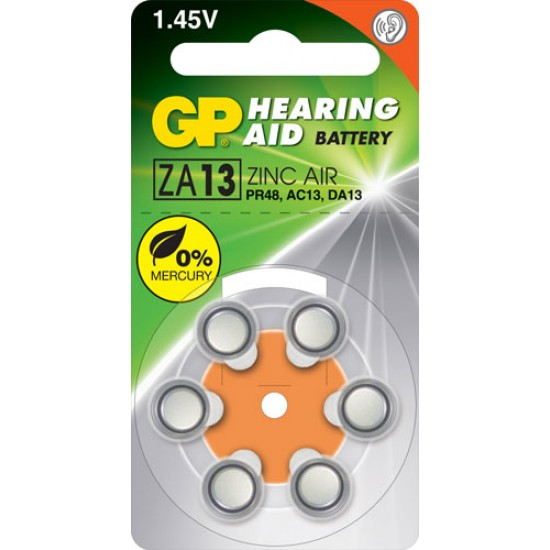 GP ZA13 zinc air Hearing Aid