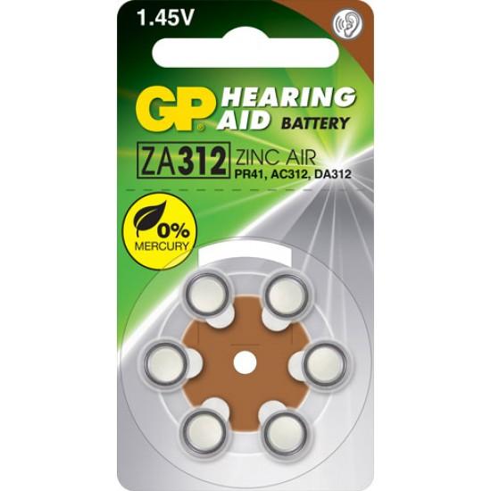 GP ZA312 zinc air Hearing Aid