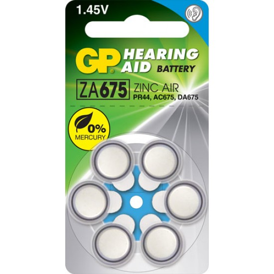 GP ZA675 zinc air Hearing Aid