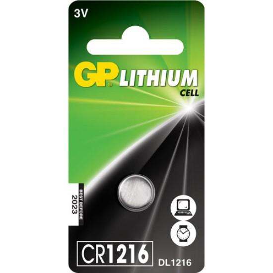 GP CR1216 Lithium button cell 3V 25mAh