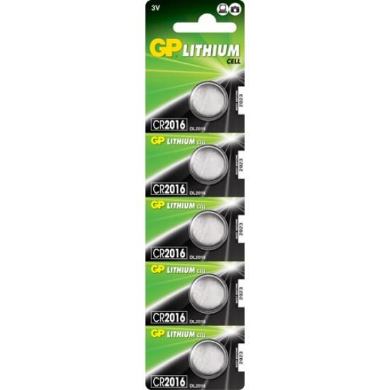 GP CR2016 Lithium button cell 3V 80mAh