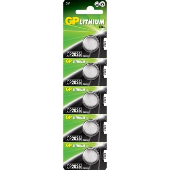 GP CR2025 Lithium button cell 3V 160mAh