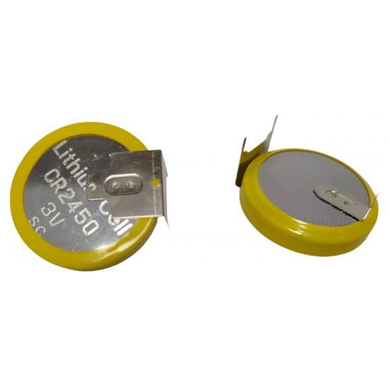 GP CR2450-TJ Lithium button cell 3V 610mAh w pins