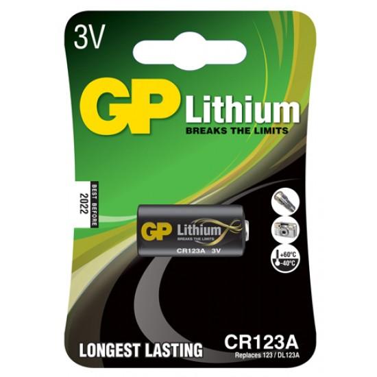 GP CR123A Lithium photo battery 3V