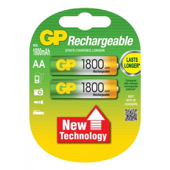GP rechargeable battery NiMh AA 1800 mAh 1.2V