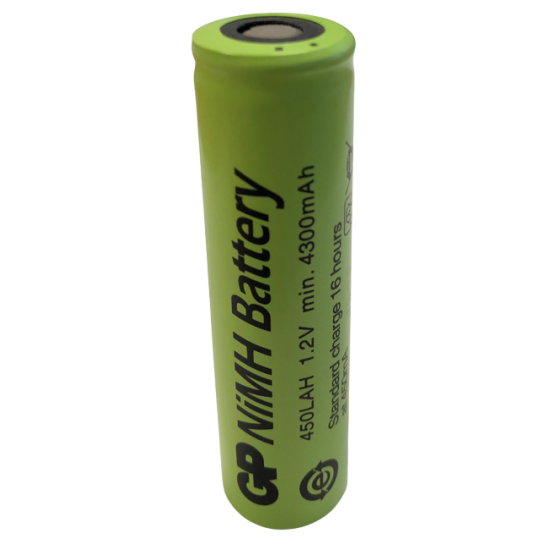GP 18670 cylindrical battery LAH 4500mAh NiMh