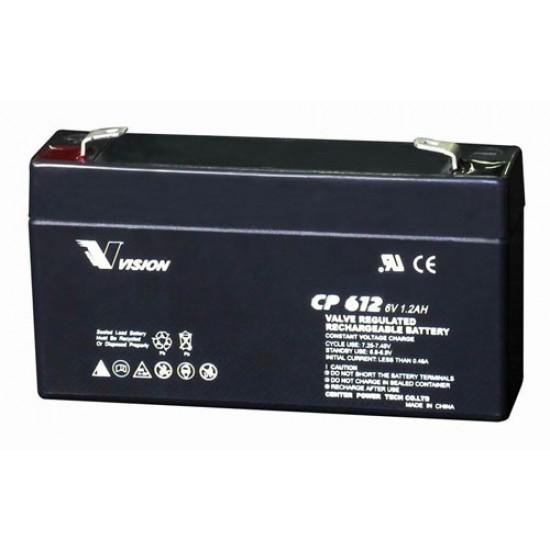 VISION Lead Acid Battery 6V 1.2Ah