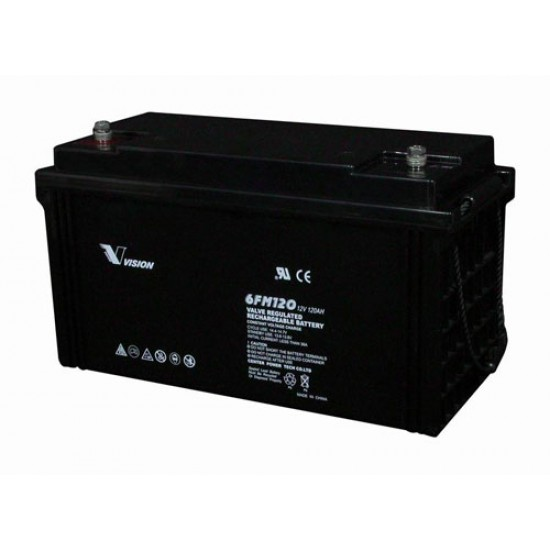 VISION Lead Acid Battery 12V 120Ah for UPS