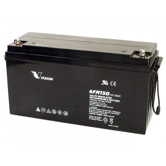VISION Lead Acid Battery 12V 150Ah for UPS