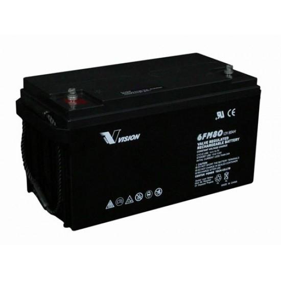 VISION  Lead Acid Battery 12V 80Ah for UPS