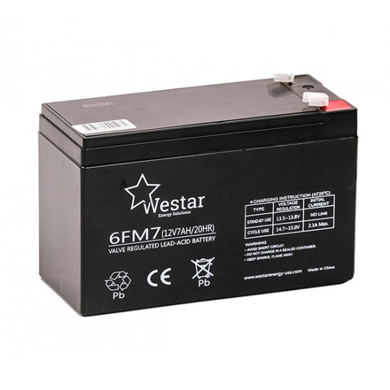 Westar Lead Acid battery 12V 7Ah (6FM7)