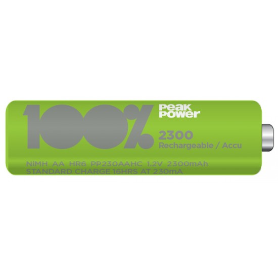 Peak Power by GP rechargeable battery NiMh AA 2300 series 1.2V